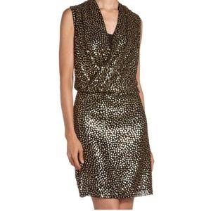 Diane von Furstenberg Issie Gold Sequin Dress